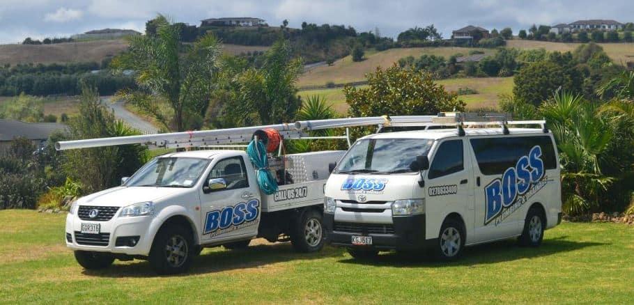 Boss plumbing service vans Whangareii